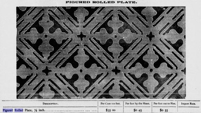 Early Figured Rolled Plate - 1890