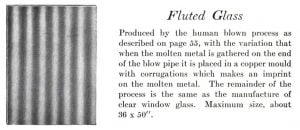 Hand Blown Fluted Glass