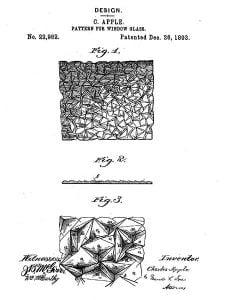 1893 pattern for window glass