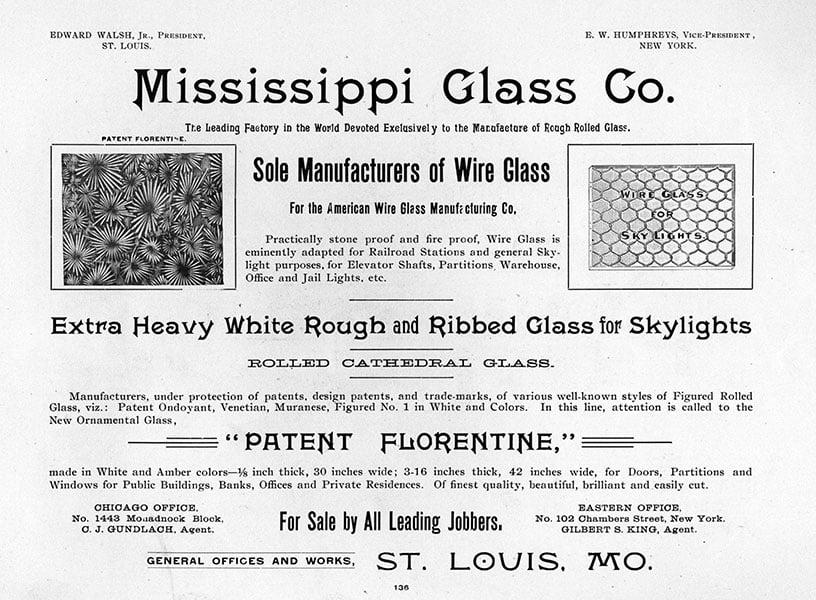 1895 - Mississippi Glass Co