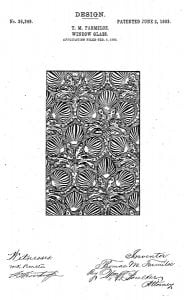 1903: T and Farmiloe Patent 'Oceanic' Glass Design