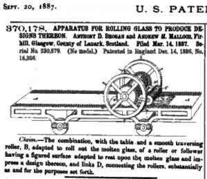 Glasgow Plate Glass Company Patent For Rolling Glass