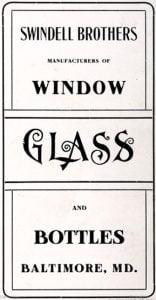 Swindell Brothers Glassworks Baltimore
