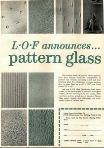 Pilkington / Libbey Owens-Ford Patterned Glass